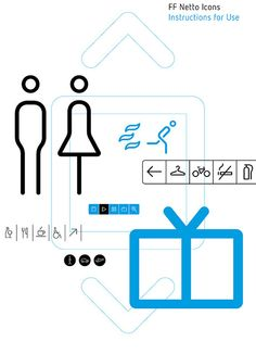 FF Netto Icons Instructions for Use [Page 1 of 6] by FontFont, via Flickr