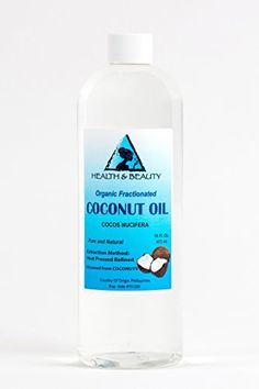 Coconut Oil Fractionated MCT Organic Carrier Ultra Refined Premium 100 Pure 16 oz *** For more information, visit image link. (Note:Amazon affiliate link) #SkinCare