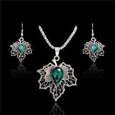 3112f100c SHUANGR New Fine 2016 Women Romantic Maple Leaf Shape AAA Zircon Wedding  Jewelry Earring/Necklace Bridal Jewelry Set
