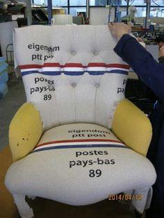 Soms mogen we wat bijzonders maken! Restyling en herstofferen van een antieke fauteuil. www.visionfurniture.nl