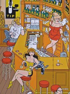 Mooie zeefdruk van Henk Kuijpers uit 1996.