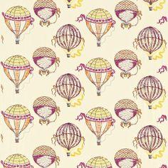 Beautiful Balloons Fabric Magenta Orange 232300, £83.00 (http://www.britishwallpapers.co.uk/beautiful-balloons-fabric-magenta-orange-232300/)