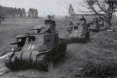 """Columns of medium tanks М3 """"General Lee"""", received by the Soviet Union under the Lend-Lease agreement, belonging to the 6th Guards Army on the march to the front line. Region of Kursk, July 1943"""