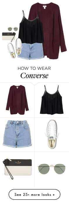 """""""baseball in memphis tomorrow⚾️❤️"""" by rob-17 on Polyvore featuring Monki, Topshop, Converse, J.Crew and Kate Spade"""