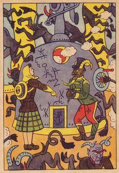 Not-so-forgotten illustrator Josef Lada - 50 Watts The Good Soldier Svejk, Childhood Stories, Children's Book Illustration, Book Illustrations, Fairytale Art, Commercial Art, Illustrators, Folk Art, Fairy Tales