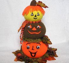 PUMPKIN CENTERPIECE Pdf Crochet Pattern