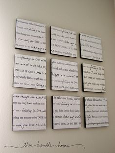 How to display lyrics to one of your wedding songs...or any song for that matter!