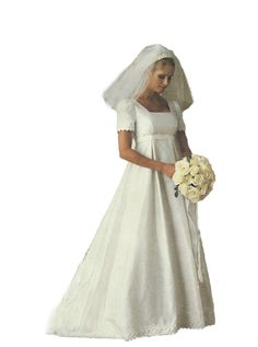 9c13e1aa6 McCalls 9135 1990s Wedding Dress Sewing Pattern Empire Waist 30- 33 Bust  UNCUT FACTORY FOLDED