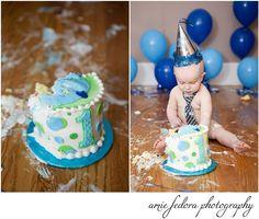 Cake smash!! #birthday #cakesmash