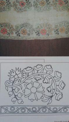 Ankara Olgunlaşma Enstitüsü Tambour Embroidery, Folk Embroidery, Japanese Embroidery, Cross Stitch Embroidery, Embroidery Patterns, Brazilian Embroidery, Satin Stitch, Fabric Manipulation, Floral Rug