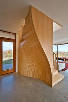 House in Frogs Hollow, designed by Williamson Chong Architects. Stair detail.