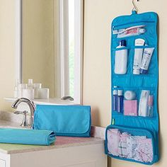 Travelmall Hanging Travel Toiletry Bags Cosmetic Pouch Handbag Waterproof Compact Toiltry organizer Christmas Gifts Blue * Click image to review more details.
