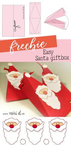 Easy freebie for a last minute Christmas gift box. | Einfaches Freebie für eine weihnachtliche Last Minute Geschenkschachtel.