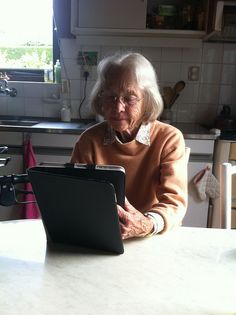 My grandmother with my iPad--Photo 17-09-11 18 36 58-- | Flickr - Photo Sharing!