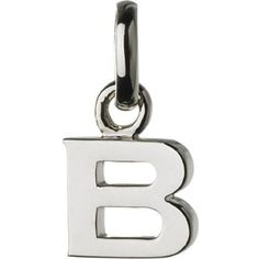 B sterling silver charm ($54) ❤ liked on Polyvore featuring jewelry, pendants, links of london, links of london jewellery, sterling silver charms pendants, polish jewelry and charm pendant