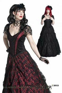 Alvira Lace Gothic Prom Dress by Sinister
