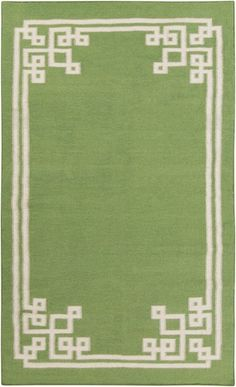 Rosenberry Rooms has everything imaginable for your child's room! Share the news and get $20 Off  your purchase! (*Minimum purchase required.) Geometric Border Alameda Rug in Apple #rosenberryrooms