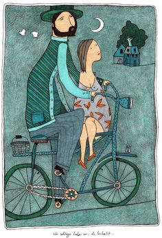 "I suggest love... you smile... -   Illustration for the wall calendar project 2013 -   Calendar of ""NIGHT THOUGHTS -   Publisher: Büchergilde/Frankfurt"