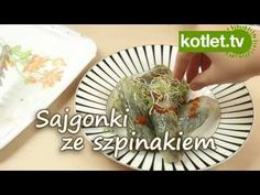 Mega Sajgonki ze szpinakiem. Kurczak szpinak papier ryżowy