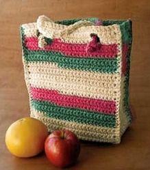 how to crochet an easy errands bag Tutorial ✿Teresa Restegui http://www.pinterest.com/teretegui/✿