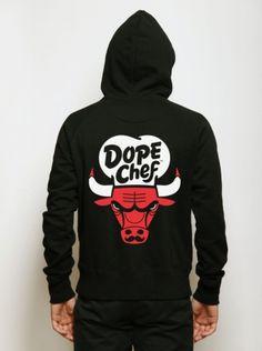 Fancy - Dope Chef - Chicago Bulls Zip Hoody