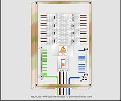 diagram of circuit in home yellow arrows show current flow addison technical lib new cable colour code