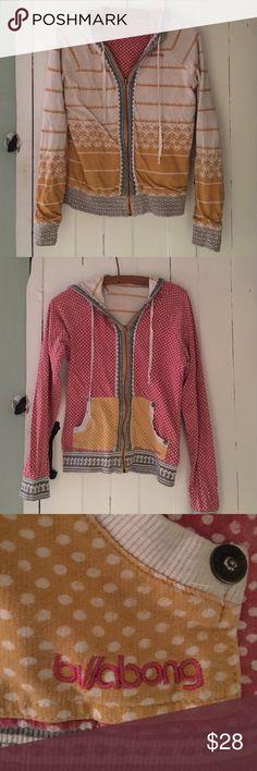 Billabong Reversible Zip Up Reversible zip up hoodie. Very soft material. Many colors. Like new condition!! Billabong Tops Sweatshirts & Hoodies