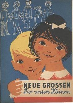 Neue Größen für unsere Kleinen - DEWAG Werbung Halle Rudolf Schossig 1961 DDR