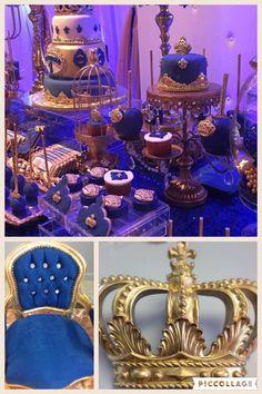 Blue and Gold Royal Theme Boy Birthday Royal Boy King Chair