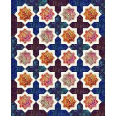 Hoffman Fabric Floral Rhapsody Moroccan Tiles Quilt Kit
