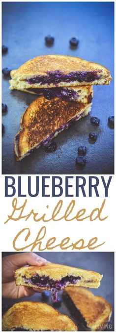 Blueberry Grilled Cheese #blueberry #blueberrygrilledcheese #grilledcheese #cheese #strangerecipes