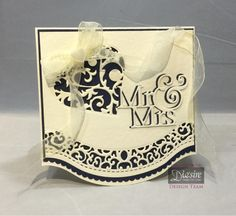 Sam Healey - Sara Davies Signature Collection Together Forever - Forever In My Heart die, Mr and Mrs die, Indulgence die - Cream Hammered Card, Ribbon pack - Collall 3D Glue Gel, All Purpose and Tacky glues - #crafterscompanion