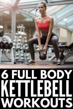 6 Kettlebell Workouts for Beginners | Looking for full body kettlebell exercises to work your arms, abs, legs, and core? Perfect for women and men, these strength training workout videos will challenge you and help take your fitness and weight loss goals to the next level! #kettlebell #kettlebellworkout #kettlebelltraining #kettlebellcircuit #kettlebellexercises