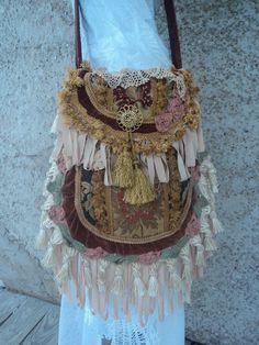 Handmade Boho Fringe Cross Body Purse Hippie Bag Magnolia Pearl Style tmyers  #Handmade #Boho