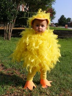 Trying to figure out if I could make this for Sydney for Halloween. I am so not that kind of person, but I do want her to be the cutest little chicken. And that is *so* not happening with a store bought chicken suit.