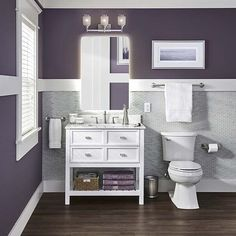 Best Purple Paint Color For Bathroom