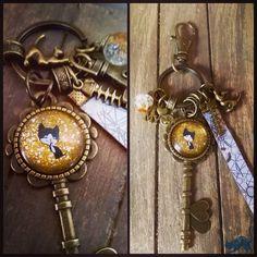 """Porte-clés/bijou de sac Nail Art """"Zouzou Hanie """". Lesmalicesdhanigrigri"""