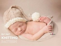 Holiday newborn hat pattern by Handy Little Me. This hat is perfect for any newborn photography sessions you have booked. Baby Hat Knitting Pattern, Knitting Patterns Free, Free Knitting, Free Pattern, Knitting Ideas, Charity Knitting, Knitting Basics, Crocheting Patterns, Baby Patterns