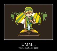 Link from Legend of Zelda - Motivational Poster