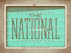 The National concert poster, 2010