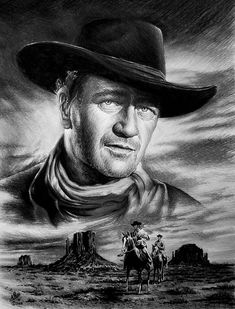 John Wayne----The movie The Searchers! By artist Andrew Read. One if the best-----the movie, the drawing and the man!!!!:)