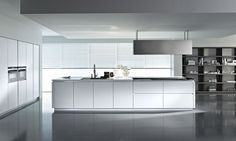 European white kitchen cabinets white high gloss contemporary kitchen from style modern high gloss kitchen cabinets High Gloss Kitchen Cabinets, Contemporary Kitchen Cabinets, Contemporary Kitchen Design, Kitchen Cabinet Design, Interior Design Kitchen, Tall Cabinets, Minimalist Kitchen Interiors, Classic Kitchen, Kitchen Models