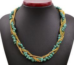 Новый урожай ювелирные изделия бирюза себе звено цепи ожерелья подарок ввбр женская девушка N1207купить в магазине just do my bestнаAliExpress