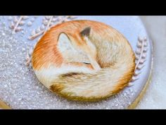 Handpainted Fox Cookie - YouTube