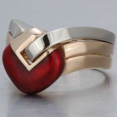 1950 Vintage Italian Heart Ring.