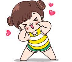 Boobib's lazy day but lovely everyday. Cute Couple Comics, Cute Couple Cartoon, Cute Cartoon Girl, Cute Love Pictures, Cute Cartoon Pictures, Cute Images, Cute Hug, Cute Kiss, Hug Cartoon