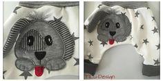 Nähanleitungen Kind - Applikationsvorlage Hund - ein Designerstück von…