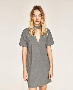 ZARA - WOMAN - DRESS WITH CHOKER NECK