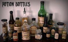Make your own potion bottles. | 17 Subtle Ways To Make Your Home Creepy AF