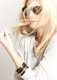 the goop edit. Michael Kors sunnies, Monrow sweater and Ashley Pittman bangle set. #goopget